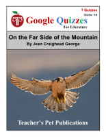 On the Far Side of the Mountain Google Forms Quizzes