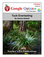 Tuck Everlasting Google Forms Quizzes