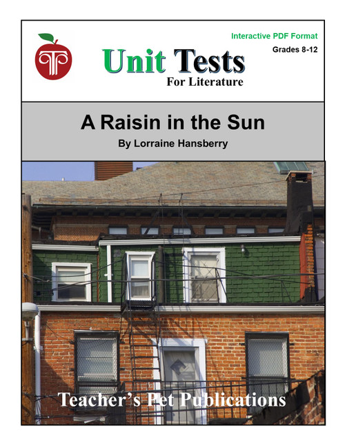 A Raisin in the Sun Interactive PDF Unit Test