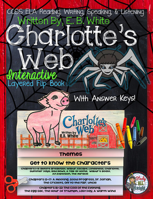 Charlotte's Web Novel Study Flip Book