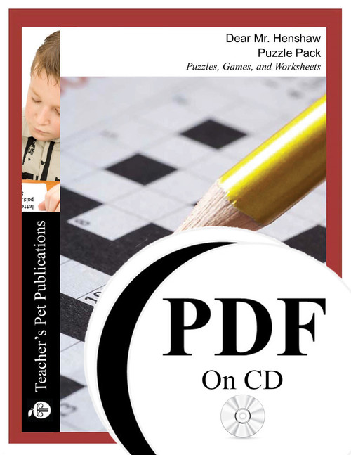 Dear Mr. Henshaw Puzzle Pack - Worksheets, Activities, Games (PDF on CD)