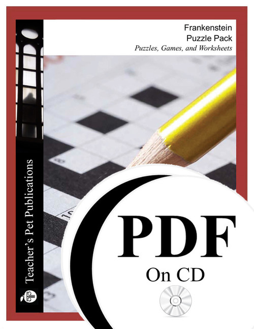 Frankenstein Puzzle Pack Worksheets, Activities, Games (PDF on CD)