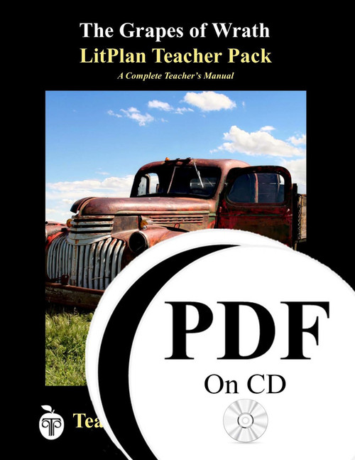 The Grapes of Wrath LitPlan Lesson Plans (PDF on CD)