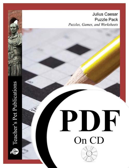 Julius Caesar Puzzle Pack Worksheets, Activities, Games (PDF on CD)