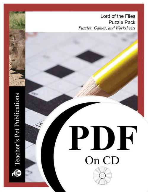 Lord of the Flies Puzzle Pack Worksheets, Activities, Games (PDF on CD)