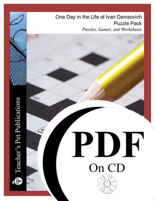 One Day in the Life of Ivan Denisovich Puzzle Pack Worksheets, Activities, Games (PDF on CD)
