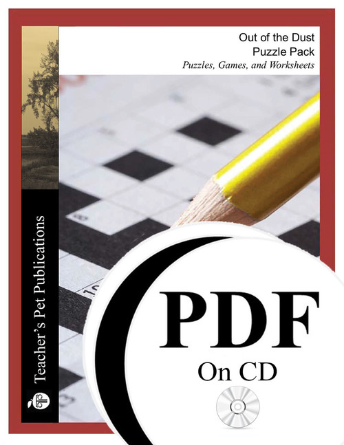 Out of the Dust Puzzle Pack Worksheets, Activities, Games (PDF on CD)