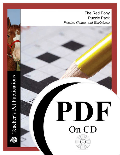 The Red Pony Puzzle Pack Worksheets, Activities, Games (PDF on CD)