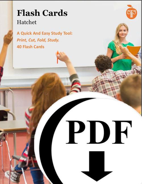 Hatchet Study Flash Cards