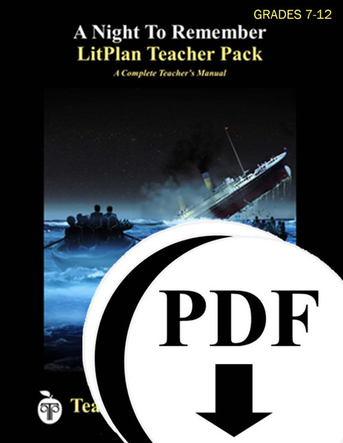 A Night to Remember LitPlan Lesson Plans (Download)