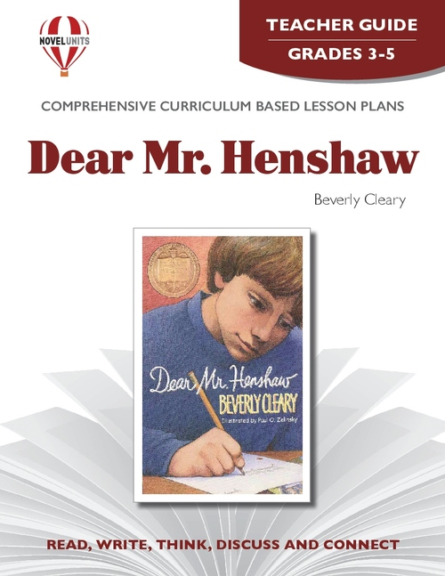 Dear Mr. Henshaw Novel Unit Teacher Guide