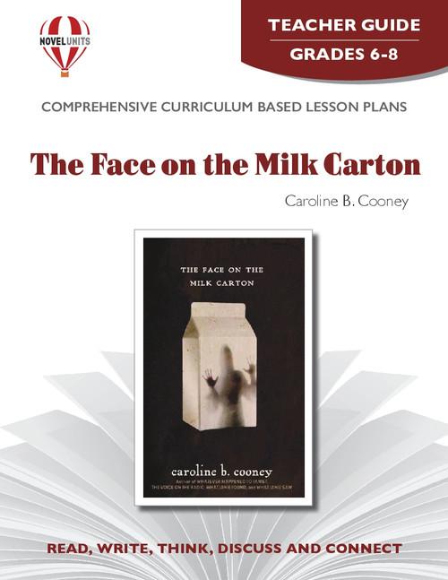 The Face On The Milk Carton Novel Unit Teacher Guide