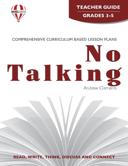 No Talking Novel Unit Teacher Guide