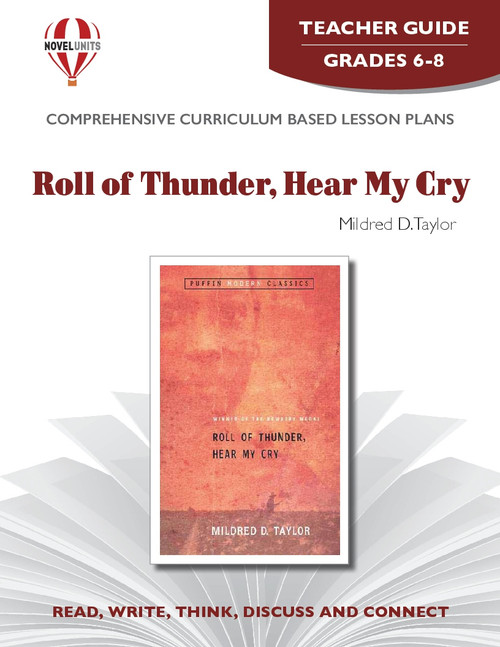 Roll Of Thunder Hear My Cry Novel Unit Teacher Guide