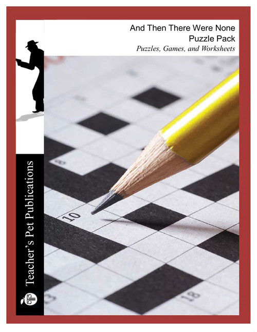And Then There Were None Puzzles, Worksheets, Games | Puzzle Pack