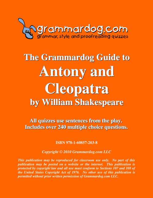 Antony and Cleopatra Grammardog Guide