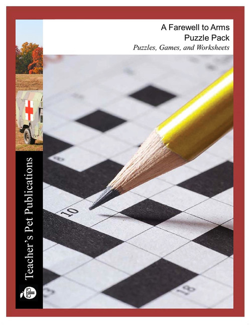 A Farewell to Arms Puzzle Pack Worksheets, Activities, Games