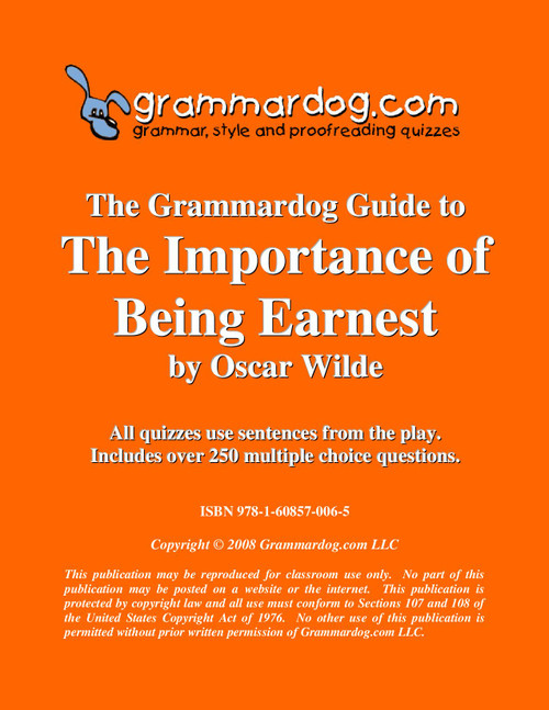 The Importance of Being Earnest Grammardog Guide