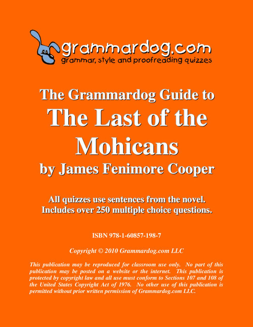 The Last of the Mohicans Grammardog Guide