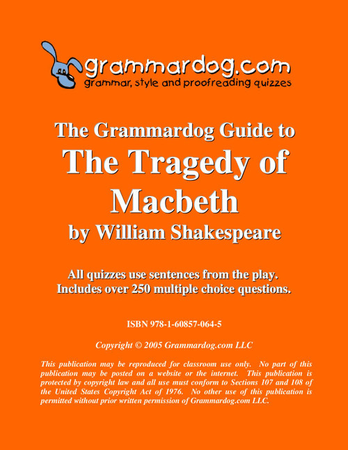 Macbeth Grammardog Guide