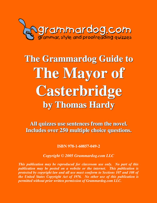 The Mayor of Casterbridge Grammardog Guide