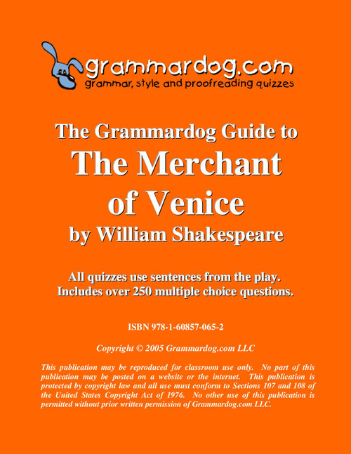 The Merchant of Venice Grammardog Guide