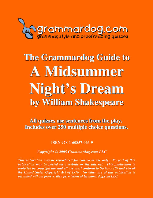 A Midsummer Night's Dream Grammardog Guide