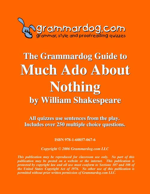 Much Ado About Nothing Grammardog Guide