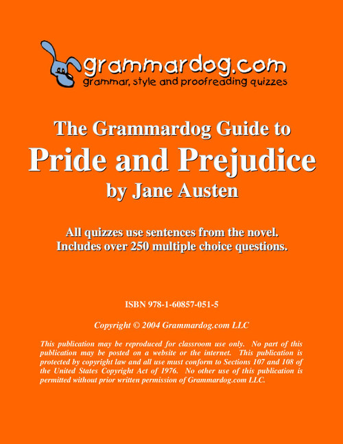 Pride and Prejudice Grammardog Guide