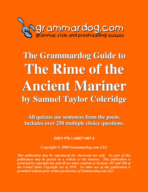 The Rime Of The Ancient Mariner Grammardog Guide