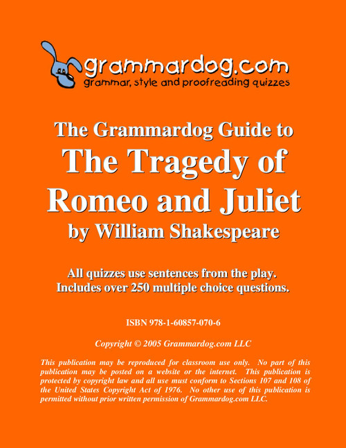 Romeo And Juliet Grammardog Guide