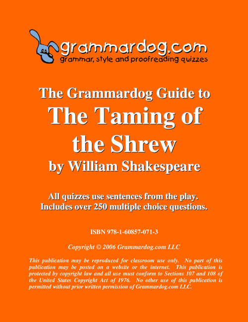 The Taming Of The Shrew Grammardog Guide
