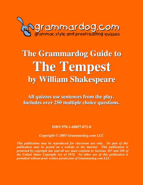 The Tempest Grammardog Guide