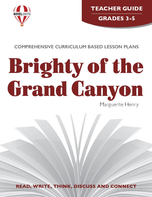 Brighty Of The Grand Canyon Novel Unit Teacher Guide