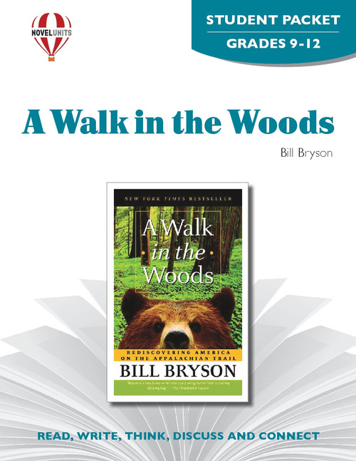 A Walk In The Woods Novel Unit Student Packet
