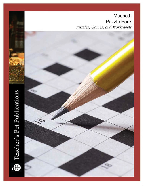 Macbeth Puzzle Pack Worksheets, Activities, Games