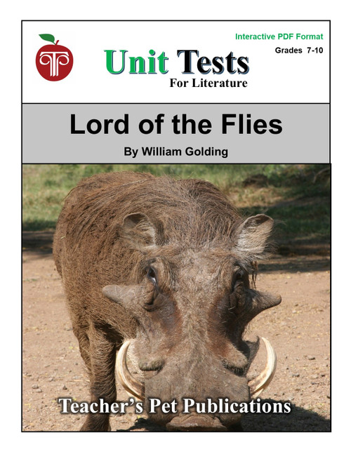 Lord Of The Flies Interactive PDF Unit Test