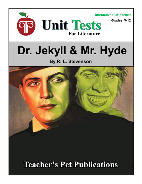 Dr. Jekyll and Mr. Hyde Interactive PDF Unit Test