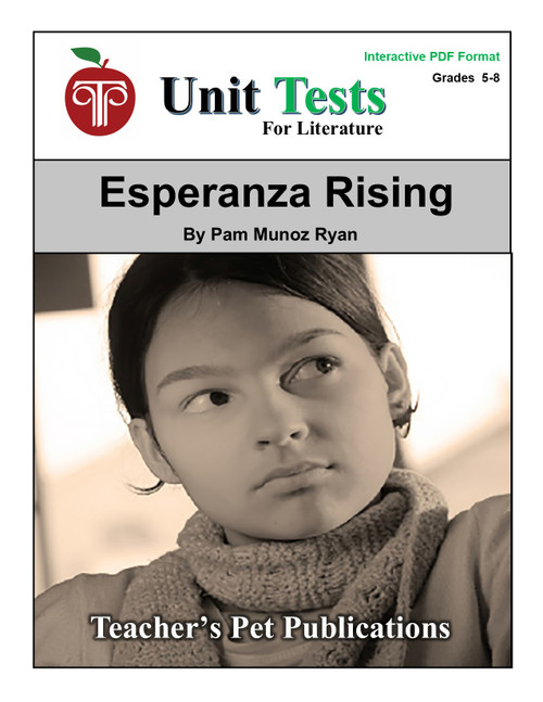 Esperanza Rising Interactive PDF Unit Test