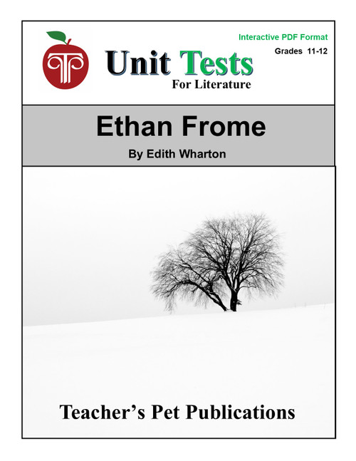 Ethan Frome Interactive PDF Unit Test