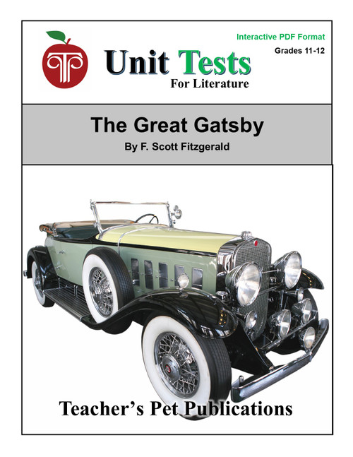 The Great Gatsby Interactive PDF Unit Test