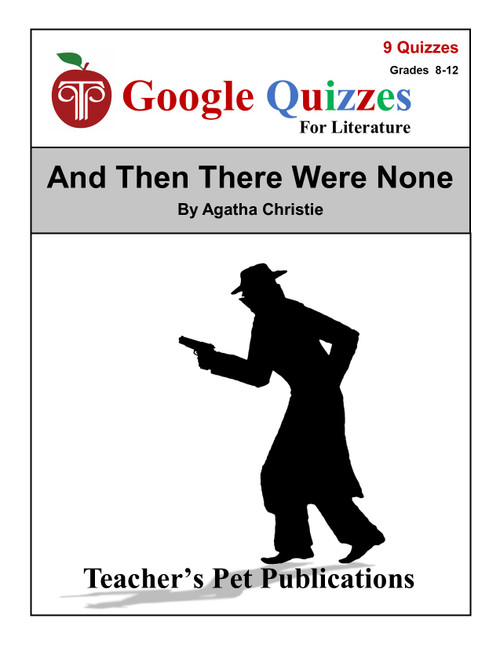 And Then There Were None Google Forms Quizzes