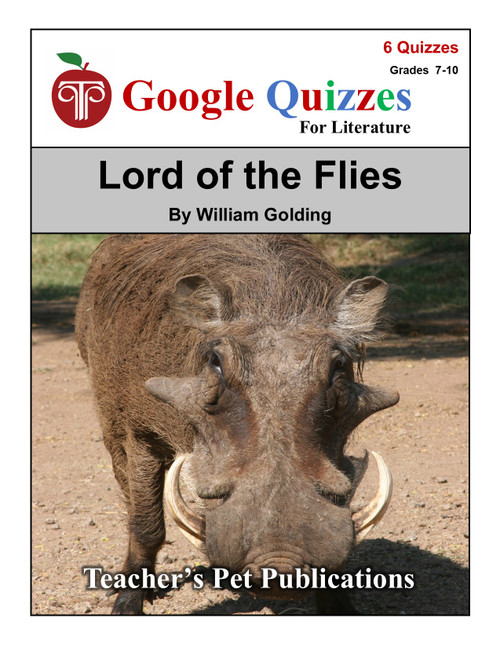 Lord of the Flies Google Forms Quizzes