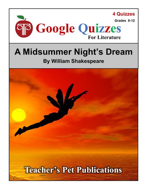 A Midsummer Night's Dream Google Forms Quizzes
