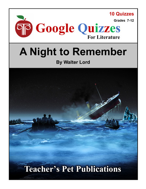 A Night to Remember Google Forms Quizzes