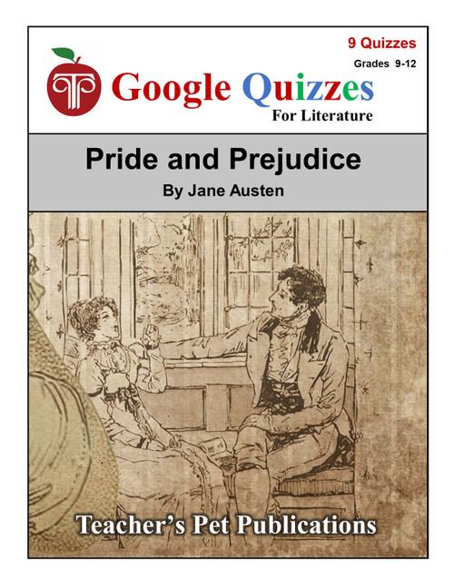 Pride and Prejudice Google Forms Quizzes