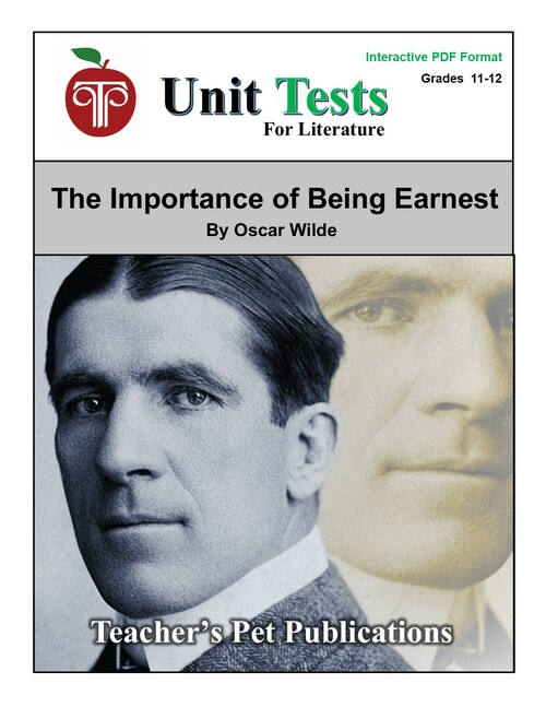 The Importance of Being Earnest Interactive PDF Unit Test
