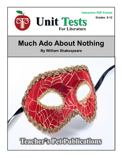 Much Ado About Nothing Interactive PDF Unit Test