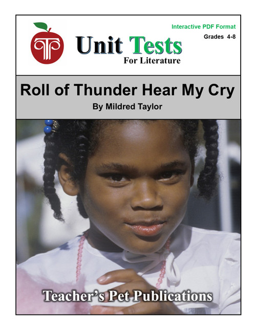 Roll of Thunder, Hear My Cry Interactive PDF Unit Test