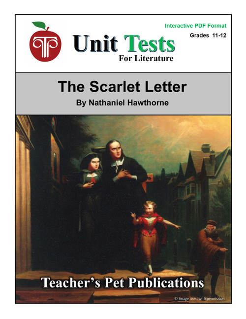 The Scarlet Letter Interactive PDF Unit Test (© Image used with permission.)